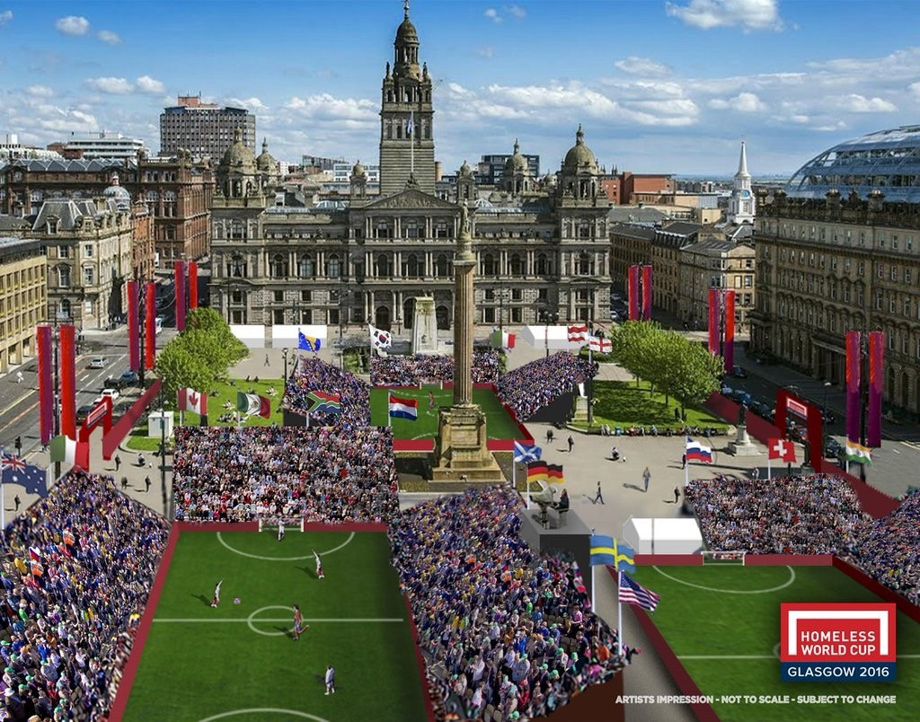 Hard to imagine a Glasgow sky this blue, but otherwise this artist impression shows how the venue will look