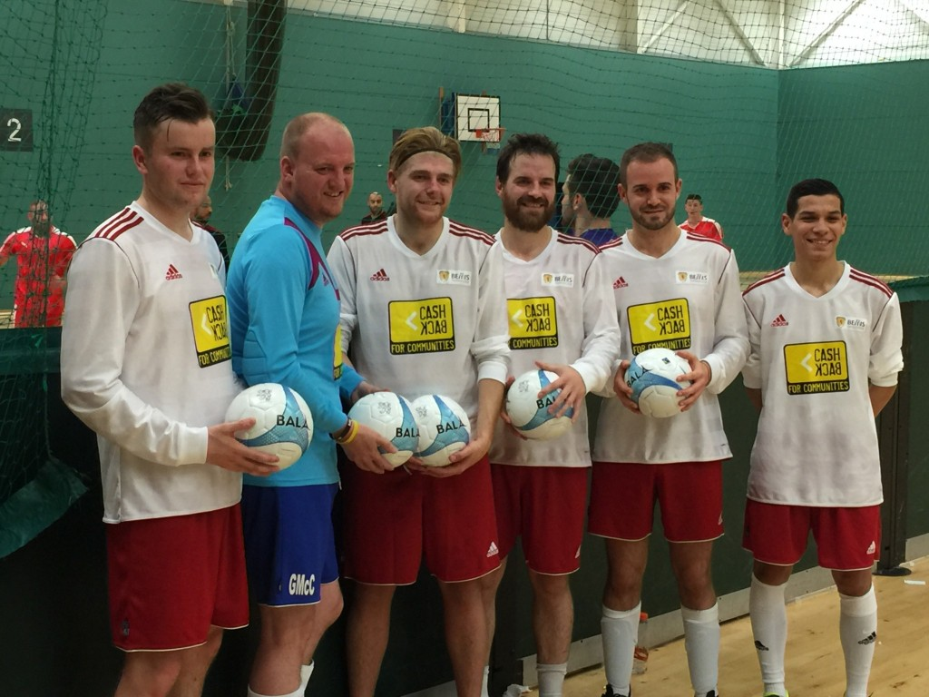 Fair Trade match futsal ball used by Scottish Futsal League
