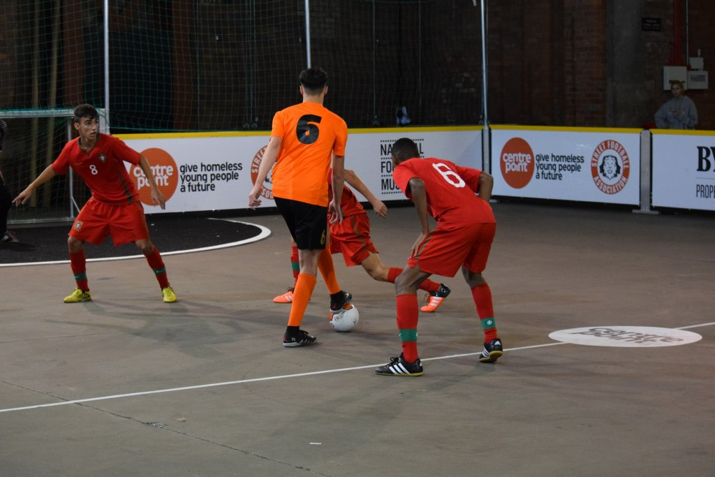 Customised Fair Trade futsal balls in European Street Football Festival