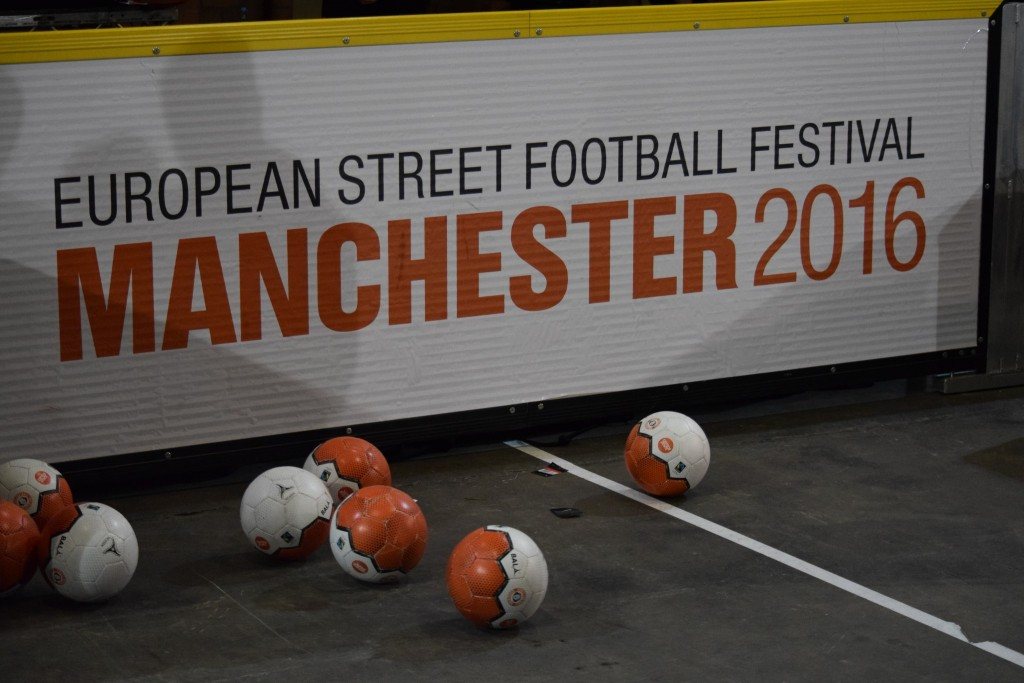 European Street Football Festival in Manchester Nov 2016 - played with Bala Sport Fairtrade futsal balls.