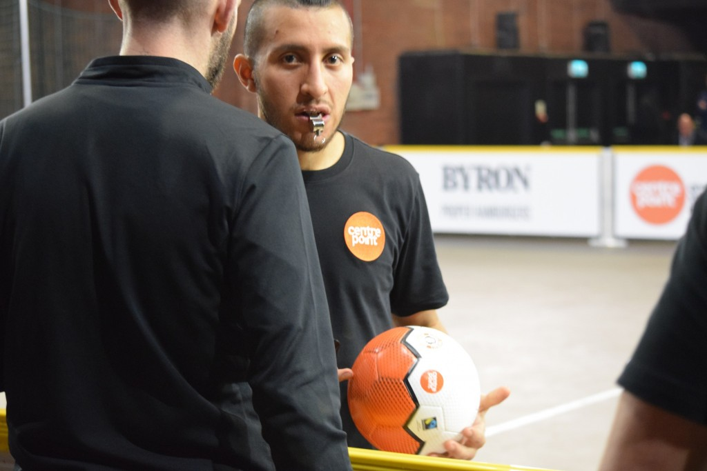 European Street Football Festival Ref with Bala Sport Fairtrade Futsal Ball