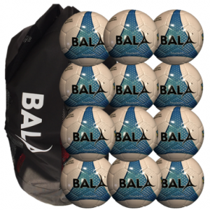 12 Fair Trade Match Quality Futsal Balls with Carry Bag