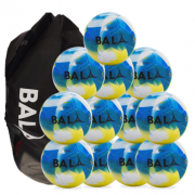 Play Fair Trade football Ball Package 12 Balls & Bag Blue