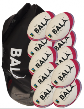 Team Rugby 10 Fair Trade Ball Package from Bala Sport
