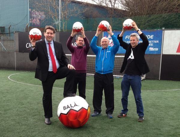 Bala Sport Fairtrade Fortnight Neil Bibby MSP