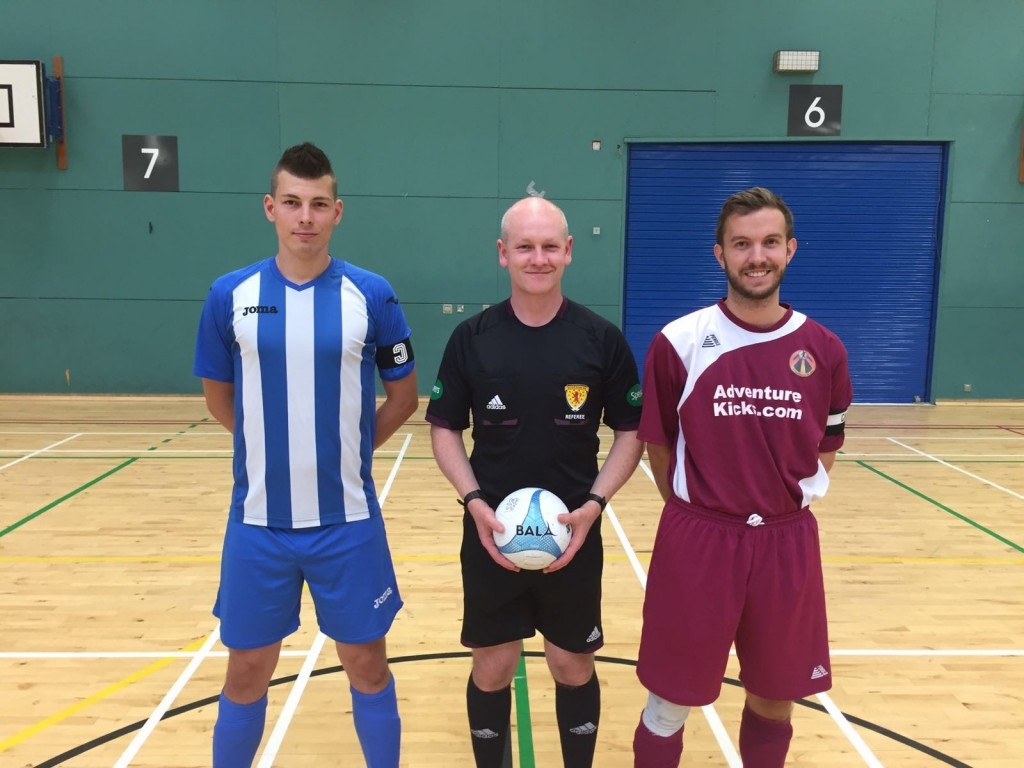 Futsal Glasgow & Adventure Kicks Teams with Fair Trade futsal ball in Scottish Futsal League
