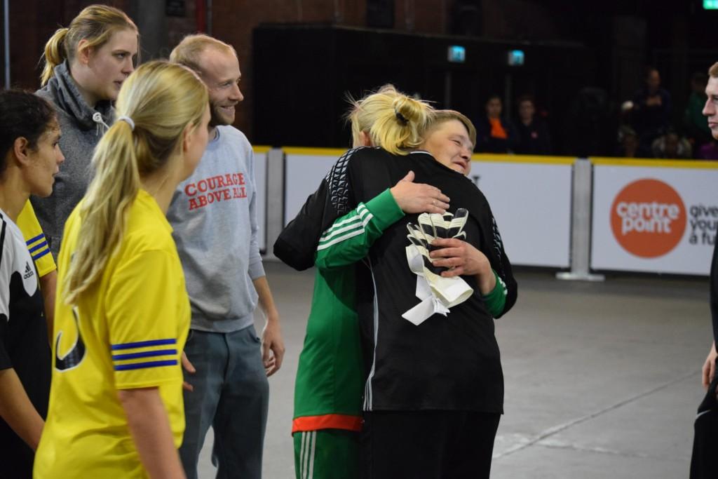 European Street Football Festival Winning emotion Played with Bala Sport Fairtrade Balls