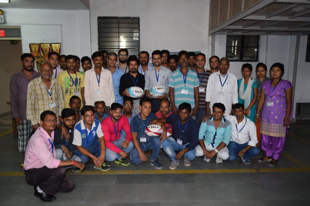 Fair Trade Rugby Ball Workers India for Bala Sport