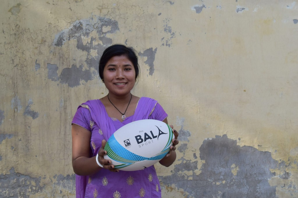 Fair Trade Rugby Ball Worker