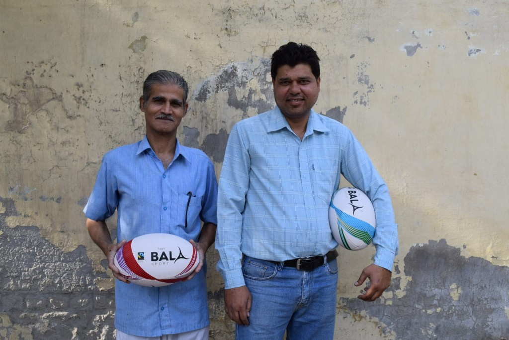 Fair Trade Rugby Ball Workers