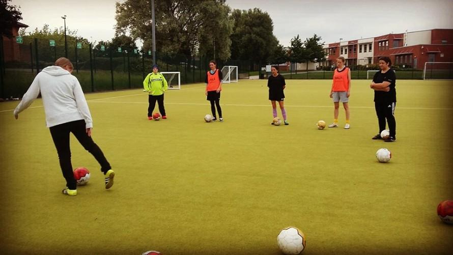 Training with Fair Trade Footballs AFC Unity