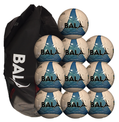 10 Fair Trade Match Quality Futsal Balls and Bag Package