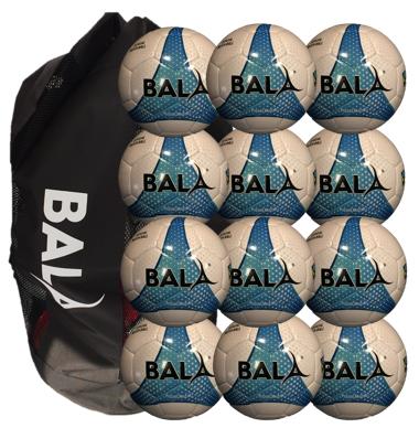 12 Fair Trade Match Quality Futsal Balls with Carry Bag