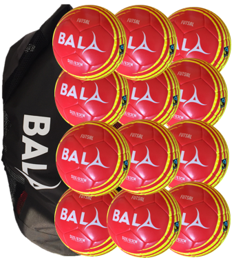 12 Fair Trade Training Quality Fitsal Balls and Bag Package