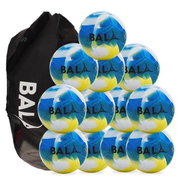 Play Fair Trade football Ball Package 12 Balls & Bag Blue