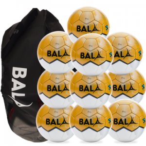 10 Fair Trade Pro Footballs Package with Bag