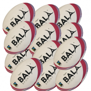12 Fair Trade Team Rugby Balls from Bala Sport