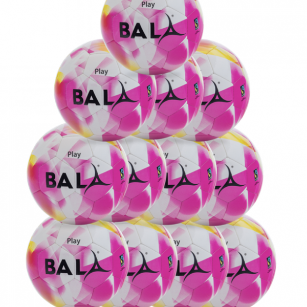 Pink Fairtrade Play Football Package