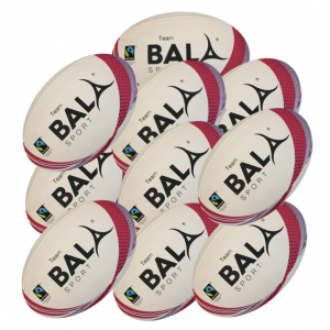 10 Fair GTrtade GTeam Rugby Balls from Bala Sport