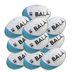 10 Fair Trade Pro Match Rugby Balls from Bala Sport