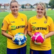 Lancing Ladies FC with Bala Sport Fairtrade footballs
