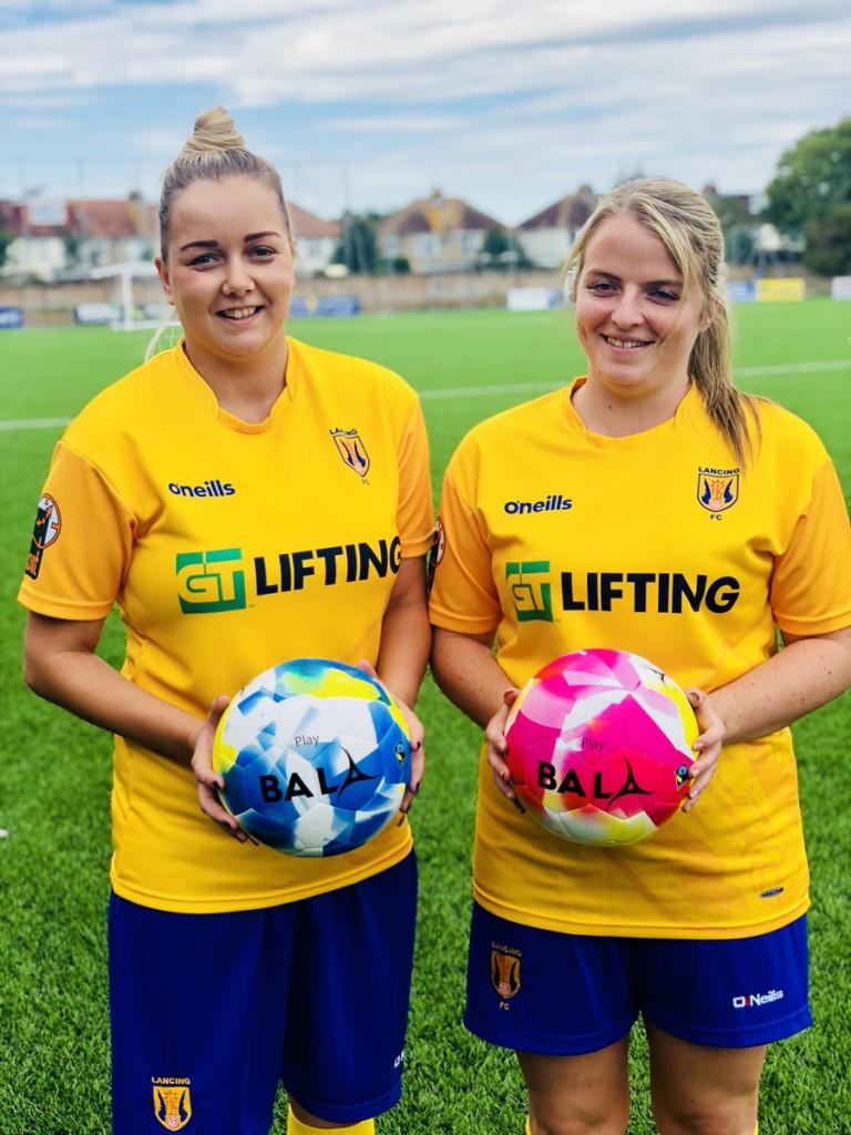 Lancing Ladies FC with Bala Sport Fairtrade footballs