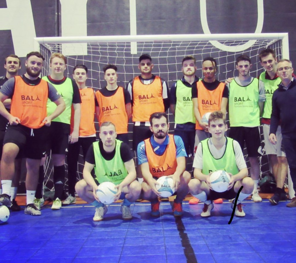 Swindon Futsal Club use Bala Sport Fairtrade balls and bibs