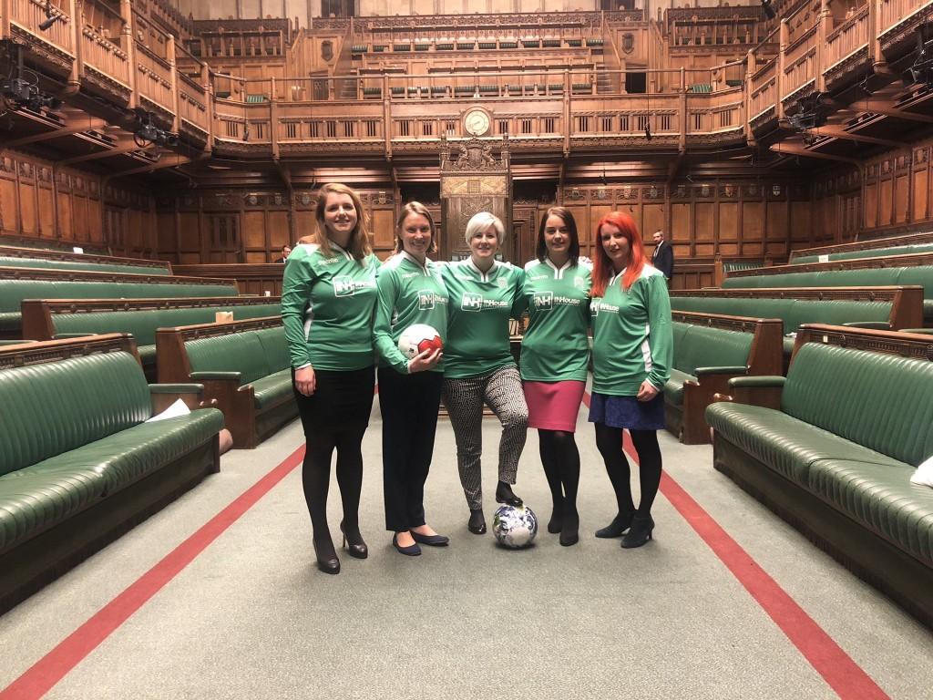 MPS WITH FAIR TRADE FOOTBALL FROM Bala Sport IN HOUSE OF COMMONS