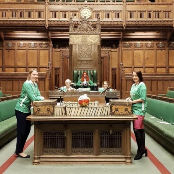 Bala Sport Fair Trade Football in Houses of Parliament