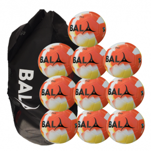Fairtrade Orange Play 10 Ball & Bag Pack